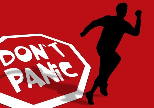 don't panic - silhouette-114436_1280